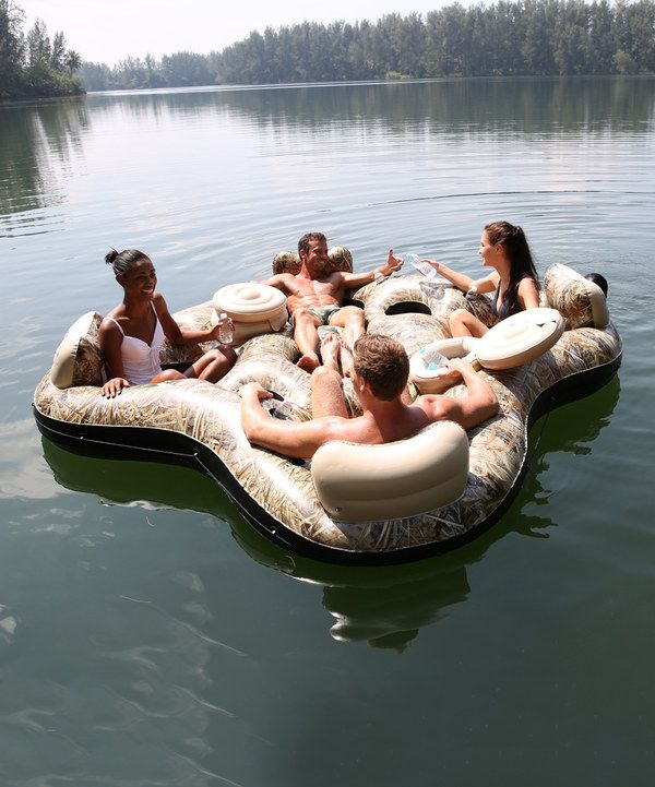 Look at this Camouflage Four-Person Lake Float on #zulily today!