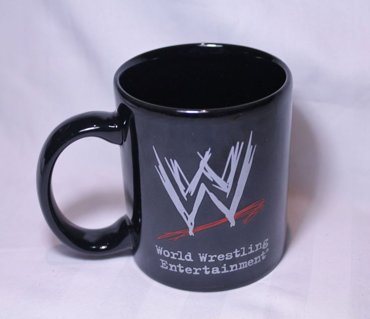 SOLD - WORLD WRESTLING OFFICIAL WWE RAY MYSTERIO 2008 COFFEE MUG RARE BLACK EXC #CM15 - SOLD