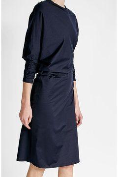 Drapiertes Kleid aus Baumwolle von Jil Sander