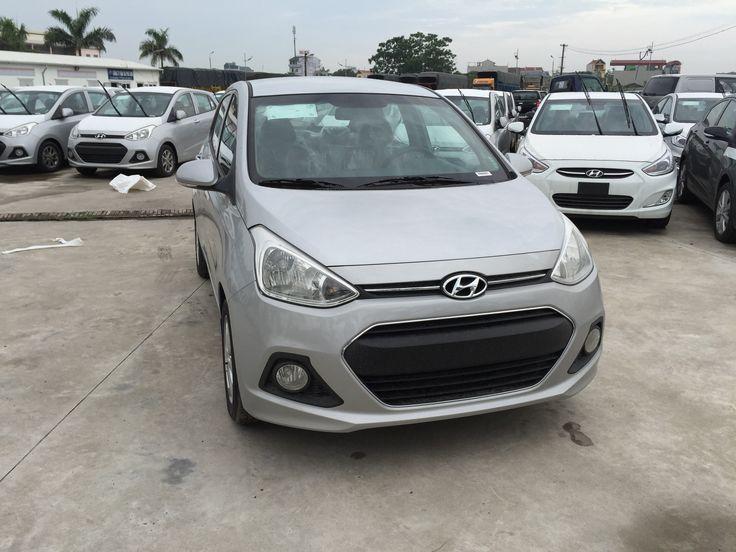 """Hyundai sedan i10 được thiết kế lưới tản nhiệt mạ crom với biểu tượng """" chữ H"""" nổi bật hài hòa với vẻ ngoài cao cấp của xe và tăng cường các tính thể thao của phần đầu xe.  Hyundai Bình Dương - 0941.554.699"""
