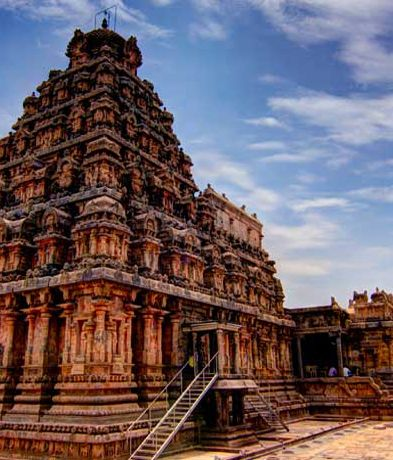 The great Chola Temples are 'living' monuments collectively inscribed as a UNESCO World Heritage Site. Over 1000 years of continuing tradition of daily worship and observance of Vedic rituals have kept the temples alive till date. http://www.rustiktravel.com/Experiences/the-chola-dynasty-splendour/