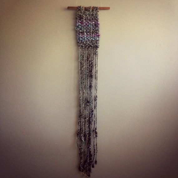 Merino and Silk Wall Hanging by CrisalidaTextile on Etsy