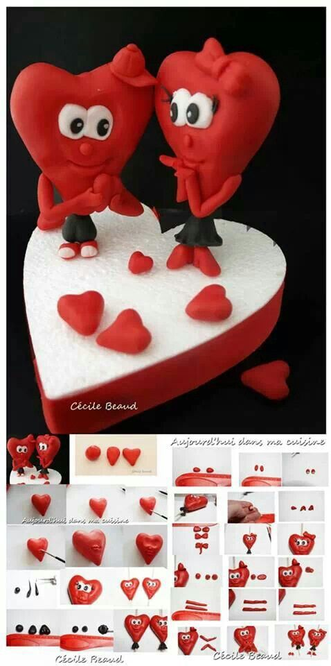 Valentine cake topper