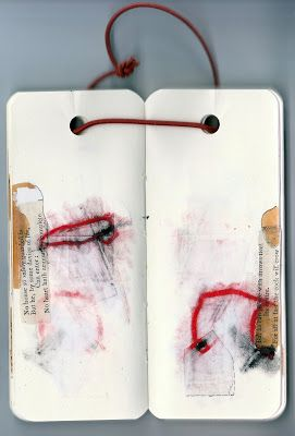 "Jack Oudyn - mixed media drawings from artist book ""Thin Red Line"""