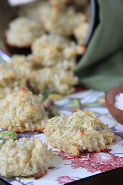 Olives for Dinner | Cardamom-Pistachio Coconut Macaroons by Jeff and Erin's pics, via Flickr