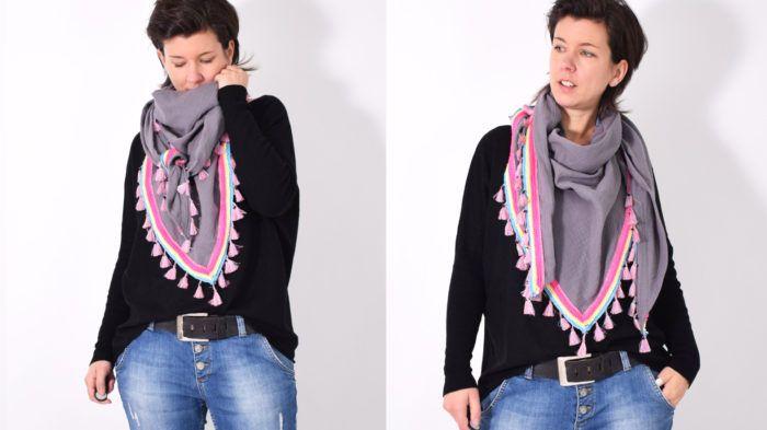 MUSSELINtuch • Schal • Tuch • kostenlos Schnittmuster + Nähanleitung • leni pepunkt • freebie • free sewing pattern • scarf