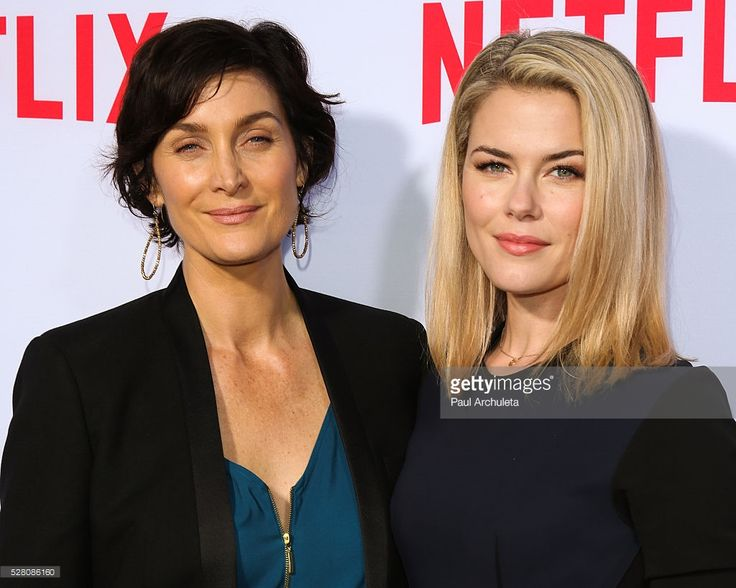 Actors Carrie-Anne Moss (L) and Rachael Taylor (R) attend the Netflix original series' 'Marvel's Jessica Jones' FYC screening and Q&A at Paramount Studios on May 3, 2016 in Hollywood, California.