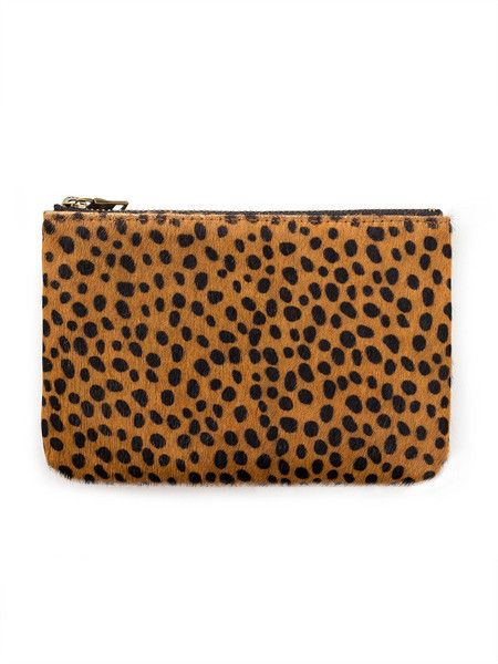 STATUS ANXIETY - Maud Wallet - Brown - Animal Print - Smooth Hide  $59.90