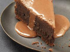 Fondant au chocolat, sauce caramel