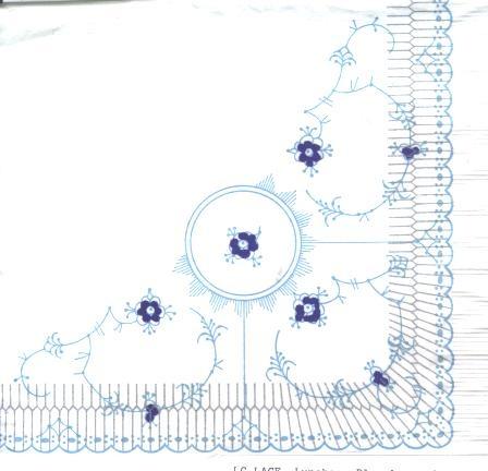 Royal Copenhagen napkins as base for centerpiece