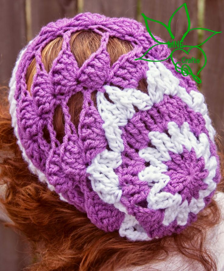 MNE Crafts: Diagonal Shell Slouch Beanie | crochet hats ...