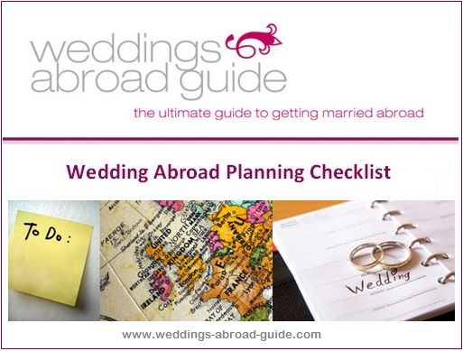 Best 25 Destination Wedding Checklist Ideas On Pinterest