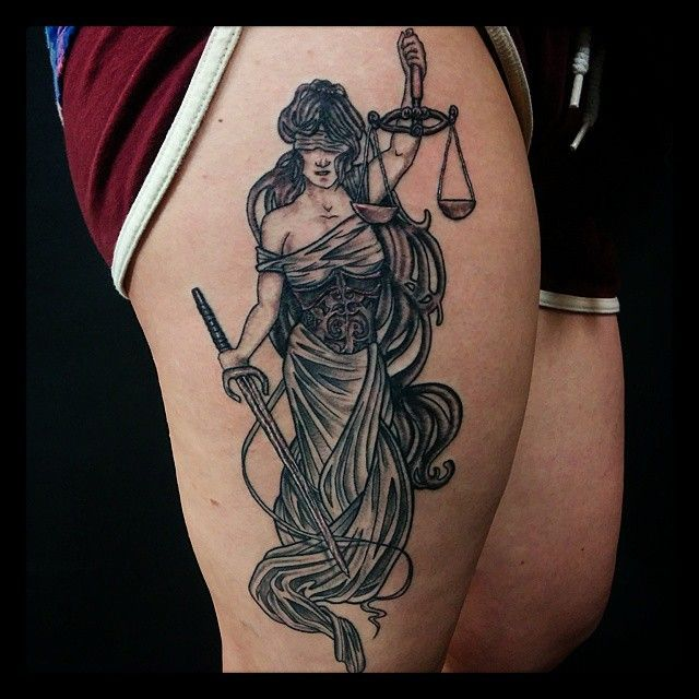 281 Best Lady Justice Tattoos Images On Pinterest