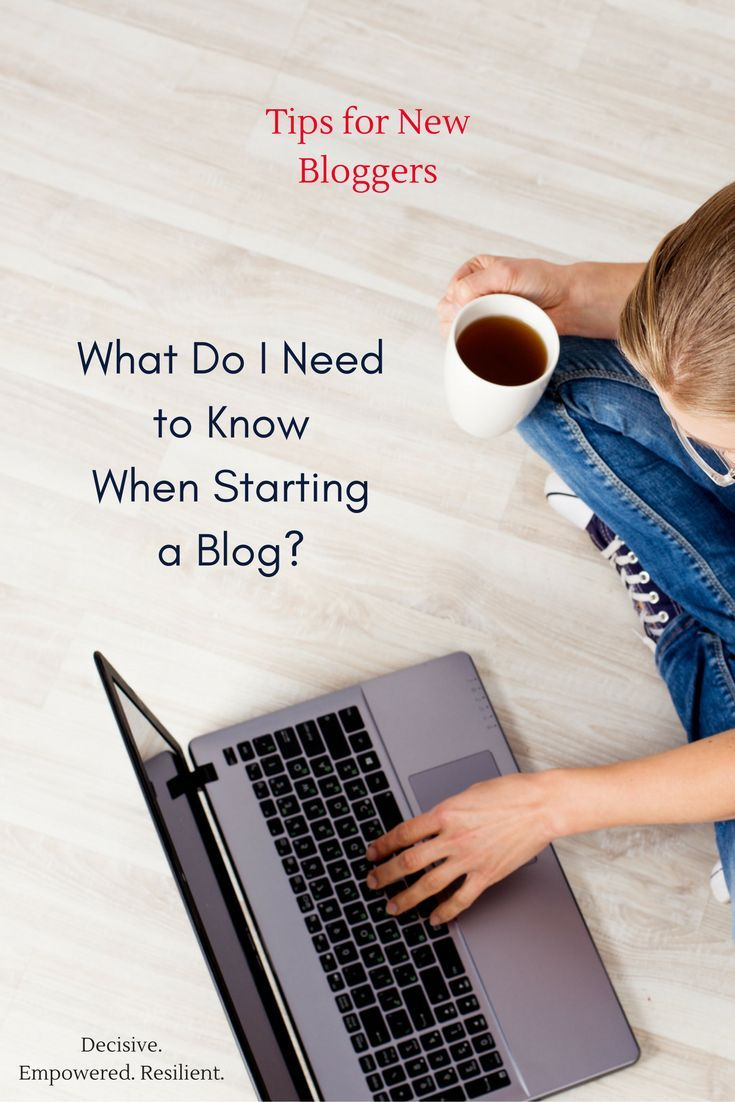 Great tips and insight for those wanting to start a blog or just beginning in blogging.