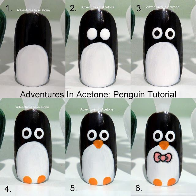 Adventures In Acetone: penguin  #nail #nails #nailart