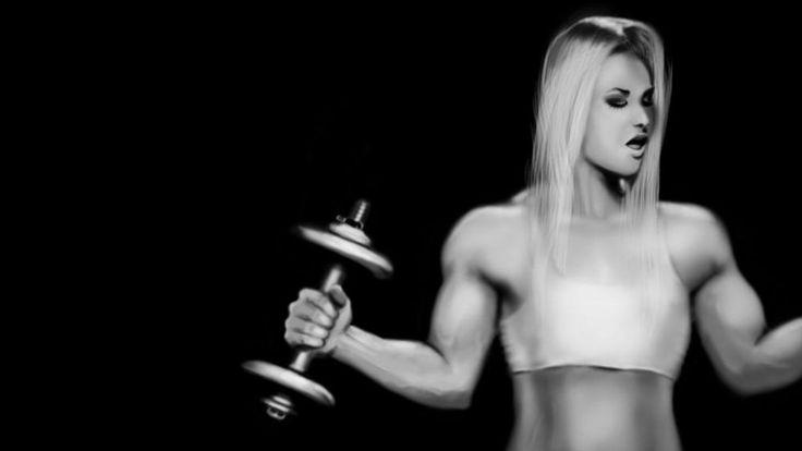 Бодибилдинг фитнес мышцы мышцы тяжелая атлетика бодибилдинг спорт женщина фитнес-Домашний Декор Холст Плакат Печать Рисунка