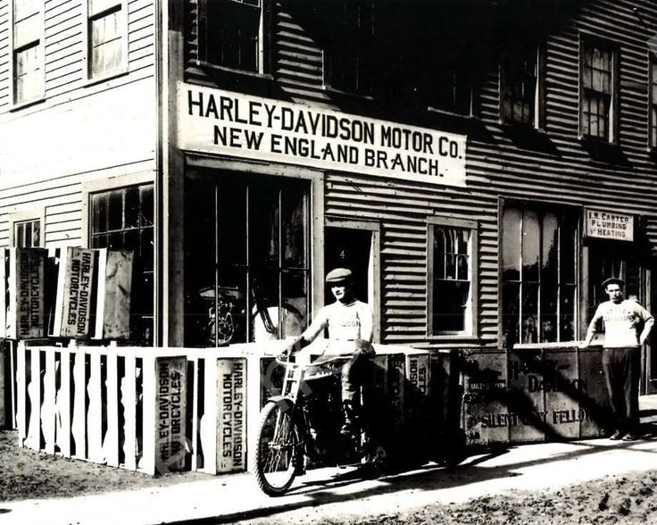 New England Motorcycle Dealer Harley Davidson Vintage 8x10 Reprint Of Old Photo