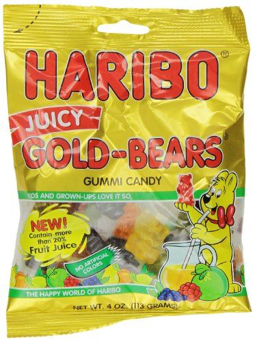 Haribo Candy, Juicy Gold-Bears, 4 Ounce (Pack of 12) Haribo http://www.amazon.com/dp/B00A8A9JI6/ref=cm_sw_r_pi_dp_Hbyqvb0H3Z1V2