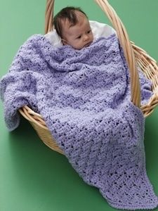 One Skein Lilac Blanket (Pattern Copied to Text File, Image Downloaded - SLT)