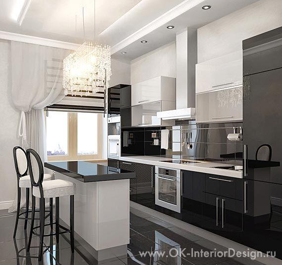 кухни черного цвета фото - Поиск в Google