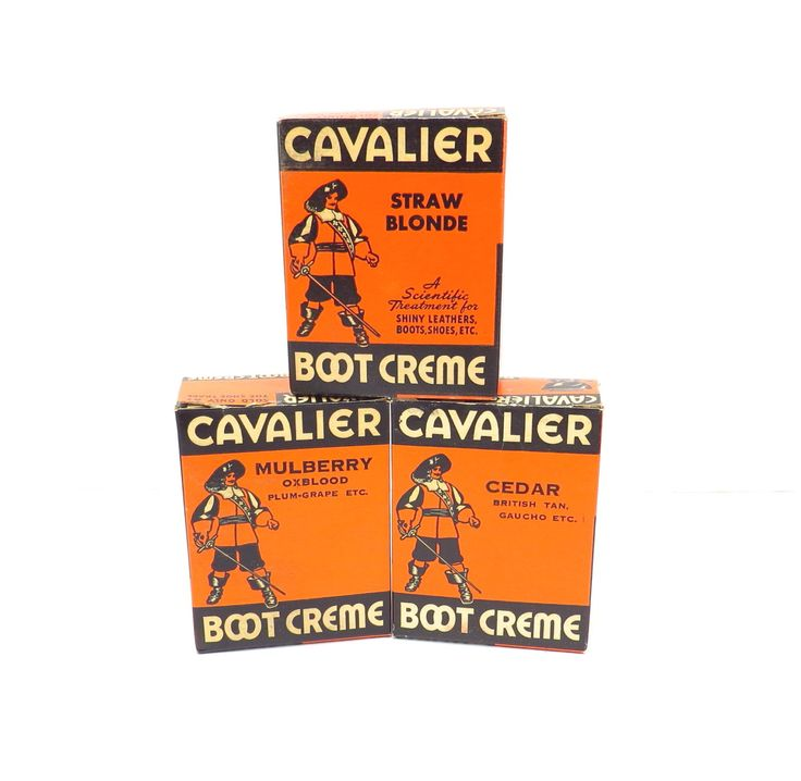 Cavalier Boot Creme Collection Vintage 1950s New Old Stock Shoe Polish by VintageCreekside on Etsy