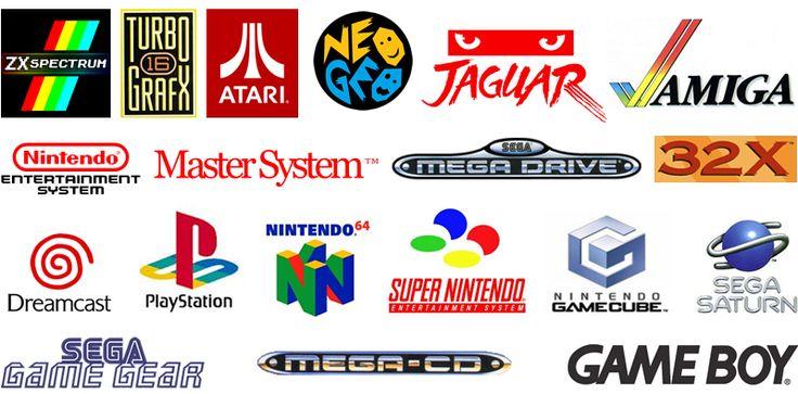 retro gaming logos gaming logos pinterest posts