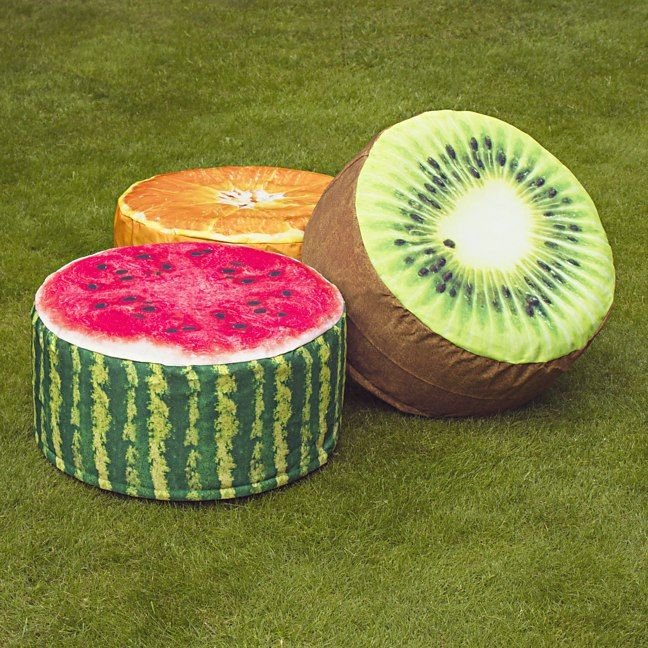 Cushioned Stools That Look Like Sliced Fruit