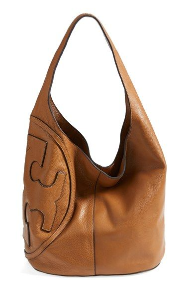 NEED THIS NOW! <3 Tory Burch 'All T' Logo Leather Hobo available at #Nordstrom