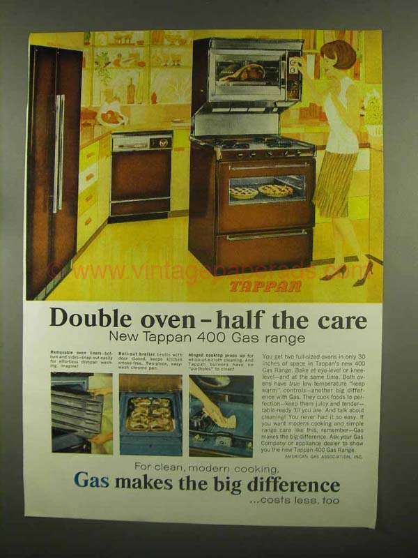 Ce0930 1965 Tappan 400 Gas Range Ad Double Oven Double Oven Gas Range Double Oven Tappan