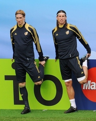 Fernando Torres & Sergio Ramos.  I keep thinking these guys are the same person...