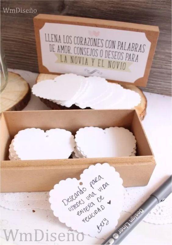 caja + corazones libro de firmas 15 años boda casamiento: