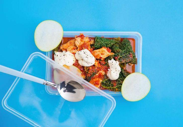 Sunn matpakke: Oppskrift på kyllinggryte med savoykål og eple av Jonas Lundgren #treningsmat #sunn #jonaslundgren #matpakke