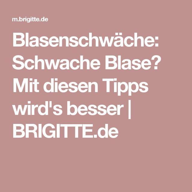 Blasenschwäche: Schwache Blase? Mit diesen Tipps wird's besser | BRIGITTE.de