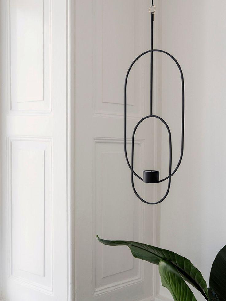 fermLIVING Hanging Tealight Deco - Oval - Black 74€