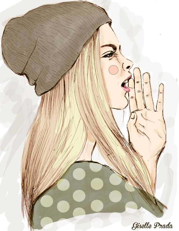 shout fashion illustration hand drawing