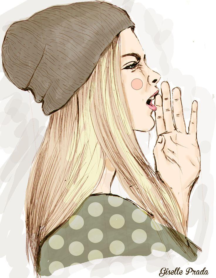 shout fashion illustration hand drawing