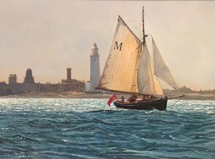 "Matthew Hillier, ""'Morwenna' off shore from Hirst Castle"""