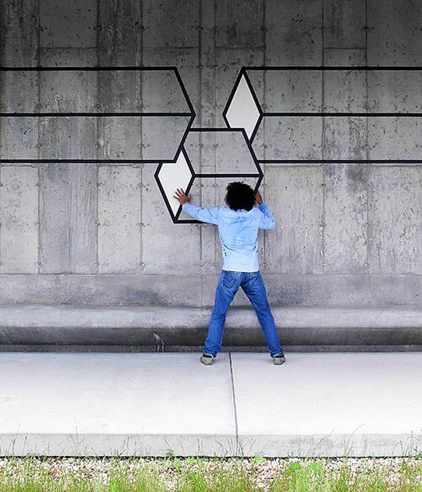 Une nouvelle sélection des créations de l'artiste Aakash Nihalani, qui mélange street art et illusions géométriques. Des créations flashy et étonnantes