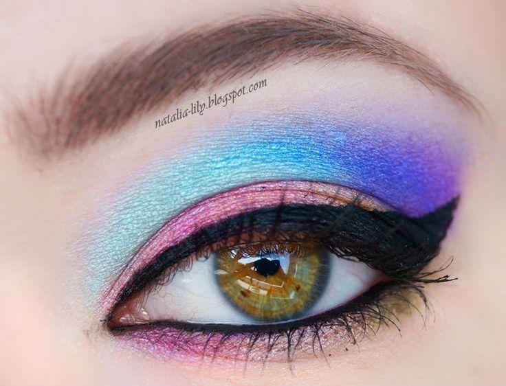 natalia-lily: Beauty Blog: Kolorowy makijaż oczu paletką Technic Electric