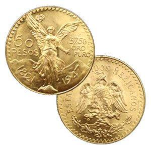 Mexican 50 Gold Peso Centenario Gold Bullion Coin, 1.2057 Ounces (37.5 Grams) Physical Bullion Storage Available.