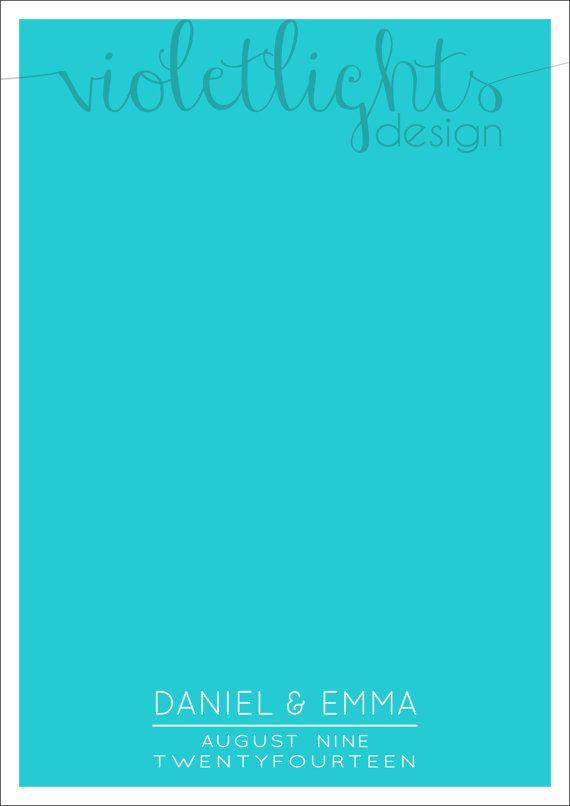 Minimalist Wedding Guestbook Page  Names by VioletLightsDesign, $35.00