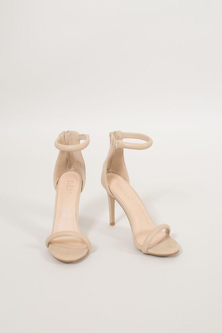 Marlene Nude Beige Strappy Heels