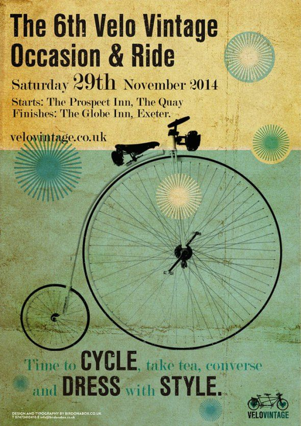 The 6th Velo #Vintage Occasion and Ride #Exeter