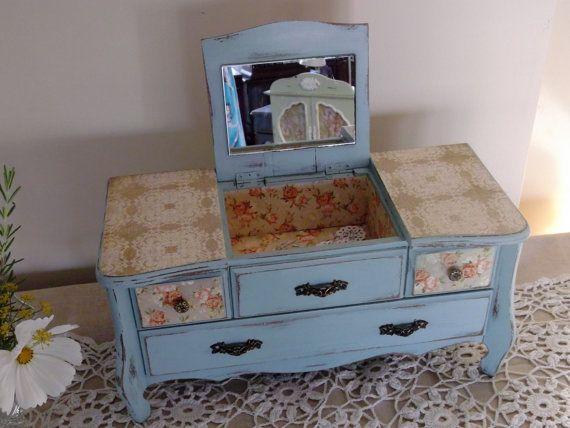 Shabby Chic French Dresser Farmhouse Cabinet Vintage