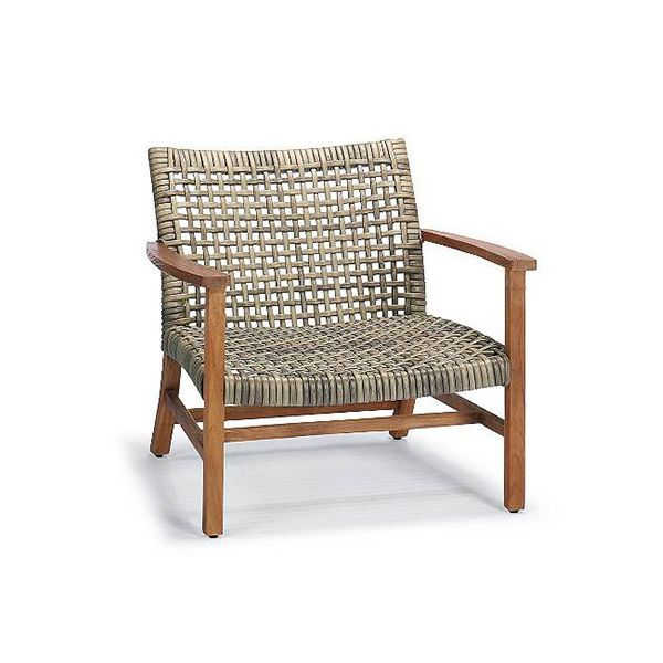 Cayman Outdoor Dining Chair With White Sand Sunbrella Cushion