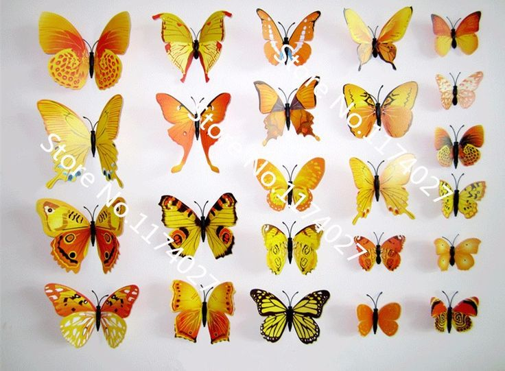 27 best 12 Pcs/Lot Butterfly Decals 3D Wall Stickers Home Decor ...