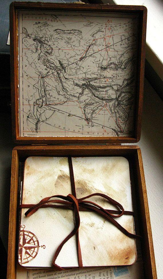 Vintage Cigar Art Box Loose Page Journal Sketchbook
