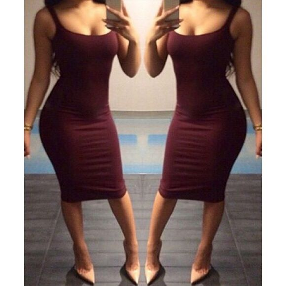 Remind me of my Jeep Bebe Dress Love this sexy It's actually red not Maroon. Dress is not Bebe just using the name for views. Dresses Mini