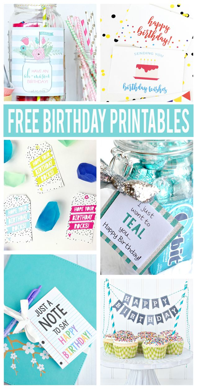 57 best Birthday Printables images – Fun Printable Birthday Cards