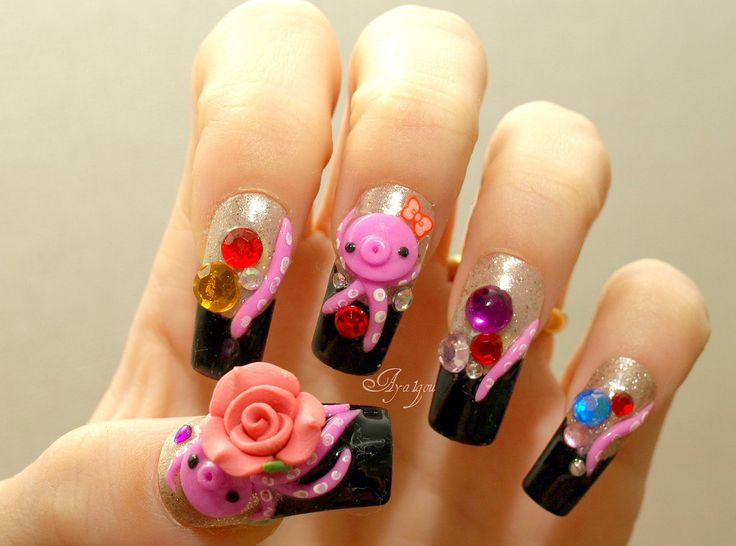 47 best Kawaii Nails images on Pinterest | Nail scissors, 3d nails ...